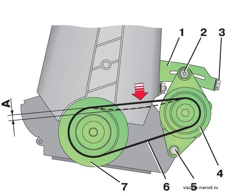 Фото №35 - свистит ремень генератора ВАЗ 2110